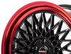 Borbet B black rim red