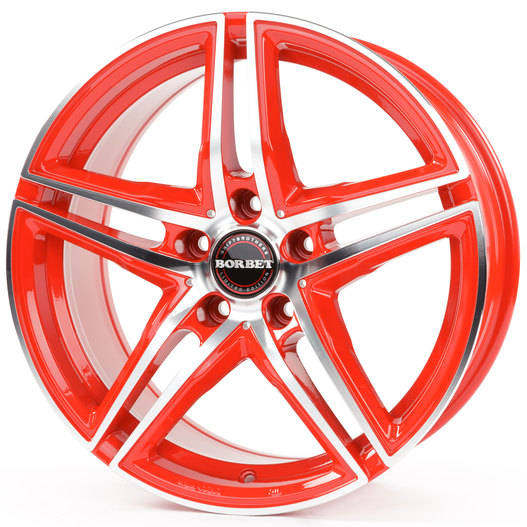 Borbet XRT racetrack red polished